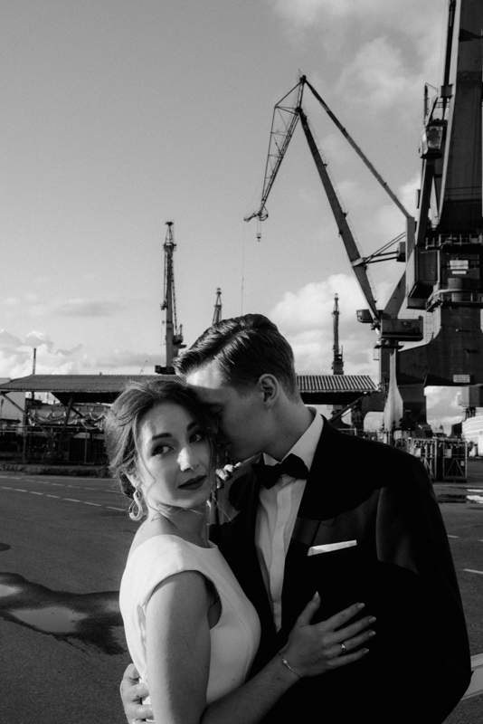 sesja ślubna w stoczni