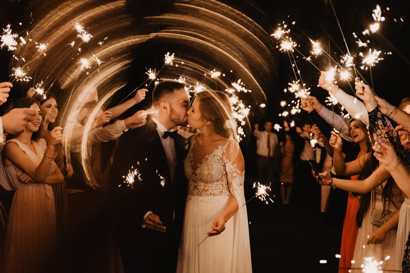 zimne ognie na weselu